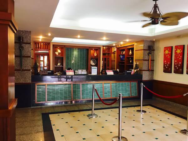 ランブットリー ヴィレッジ ホテル(Rambuttri Village Hotel)のレセプション
