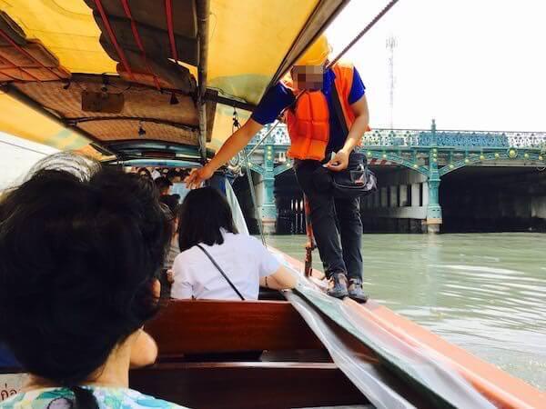 センセープ運河のカオサン行きボート1