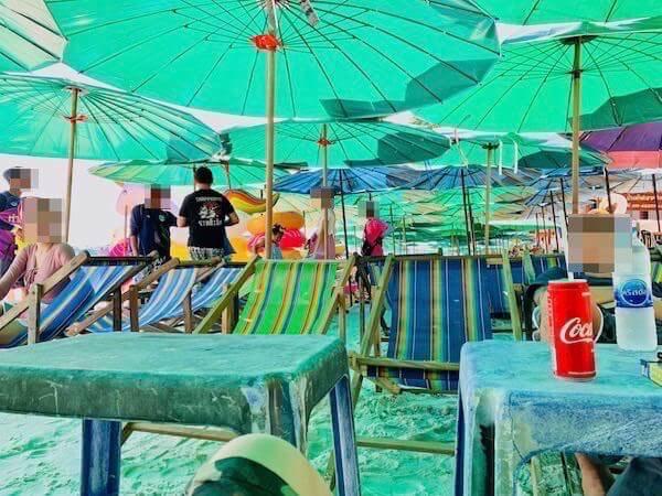 サイケオビーチのビーチチェア