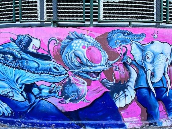 サパーン フア チャン ピアー(Sapan Hua Chang Pier)のグラフィティアート2