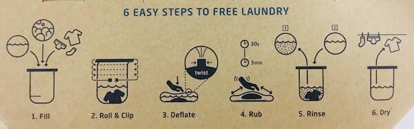 スクラバウォッシュバッグの洗濯手順