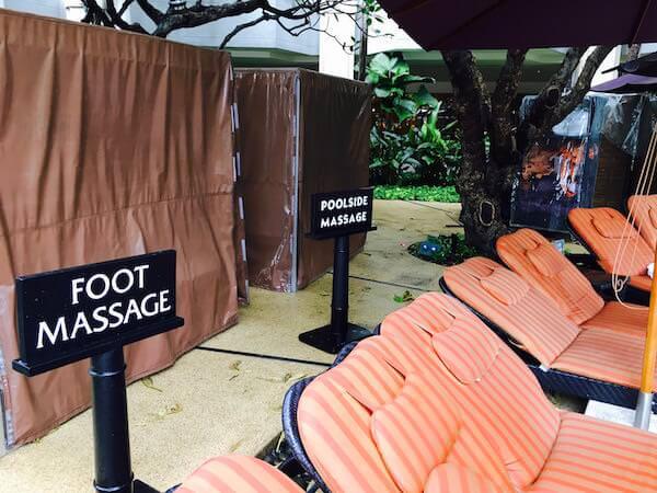 シャングリラ ホテル バンコク (Shangri-La Hotel, Bangkok)のプールサイドマッサージ