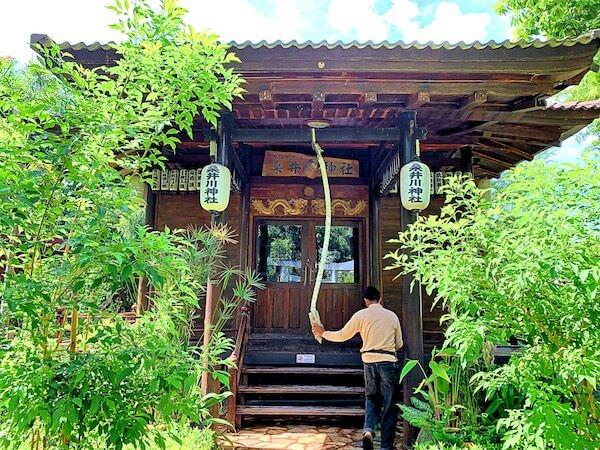 桑井川神社の拝殿