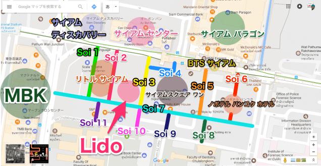 サイアムスクエアの地図