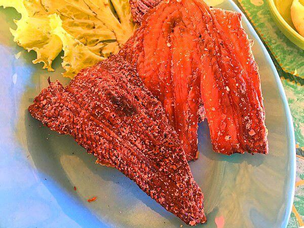 レッドロータスファームで食べた蛇肉
