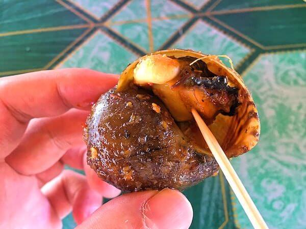 レッドロータスファームで食べたカタツムリ料理