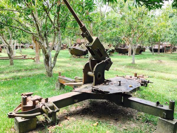 戦争博物館の兵器
