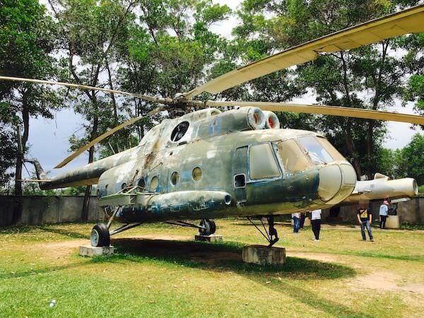 戦争博物館のヘリコプター