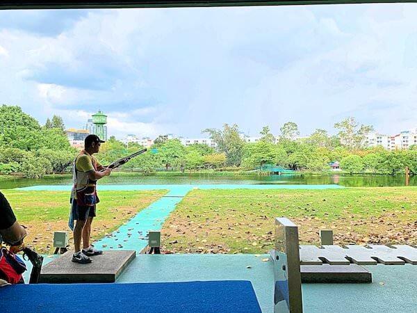 タイ国スポーツ局のクレー射撃場