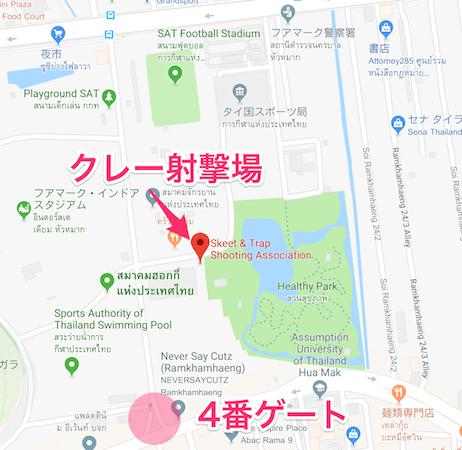 クレー射撃場の地図