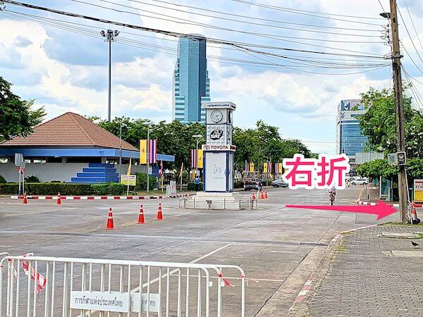 タイ国スポーツ局内の時計台