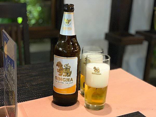 スリウィライ スコータイ(Sriwilai Sukhothai)のレストランで飲んだシンハビール