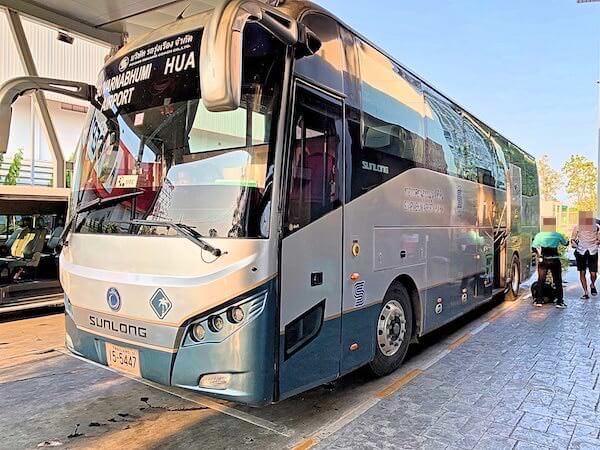 スワンナプーム国際空港のホアヒン行きバス