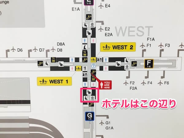 スワンナプーム国際空港 フロア地図2