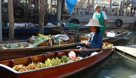 タリンチャン水上マーケット。バンコクからの週末日帰り観光を楽しもう。
