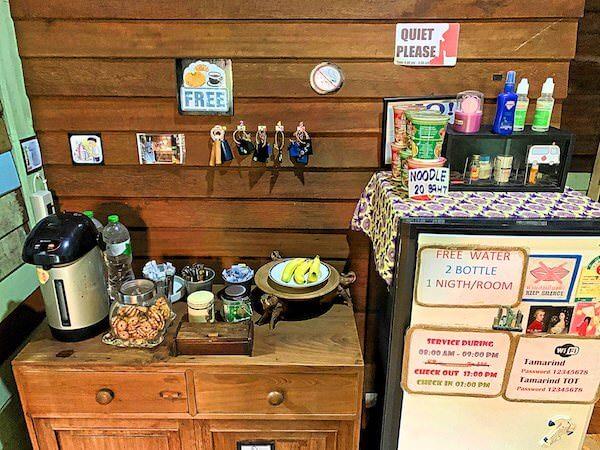 タマリンド ゲストハウス(Tamarind Guesthouse)の無料コーヒーとバナナ