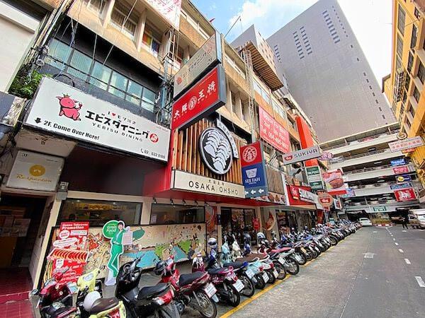 タニヤ通りに並ぶ日本食店