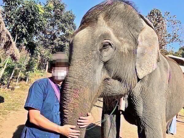 エレファントホームで乗った象
