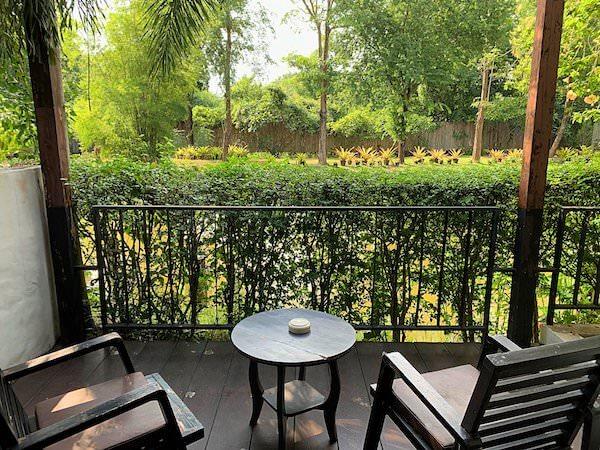 タラブリ リゾート スコータイ(Tharaburi Resort Sukhothai)の客室バルコニー