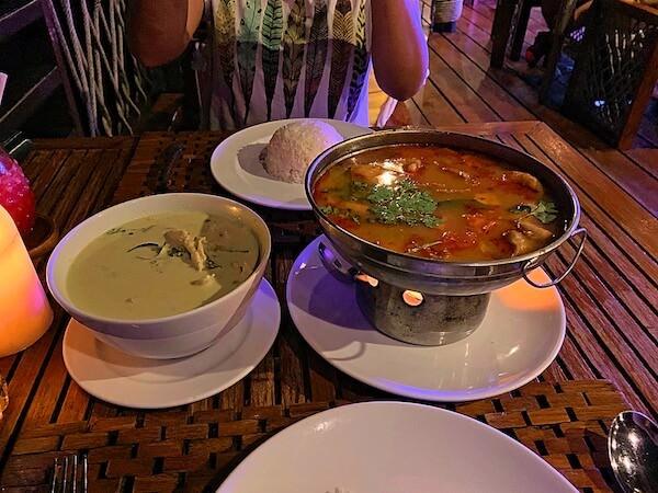 ザ フロートハウス リバークワイ リゾート(The Float House River Kwai Resort)併設のレストランで食べたディナー