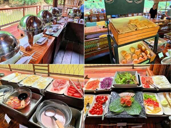 ザ フロートハウス リバークワイ リゾート(The Float House River Kwai Resort)の朝食ビュッフェ