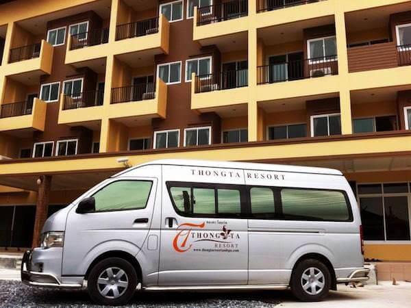 トン タ リゾート スワンナプーム (Thong Ta Resort Suvarnabhumi)の送迎用バン
