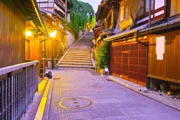 京都の温泉街