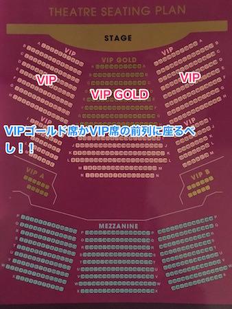 ティファニーズショーの座席表