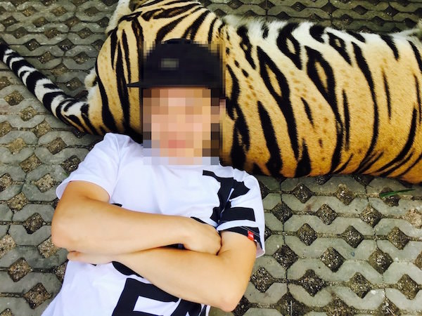 タイガーパークパタヤでの撮影2