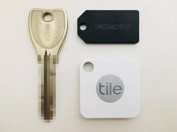 TileとMAMORIOとキー(サイズの比較)