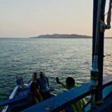 サメット島行きフェリーの甲板