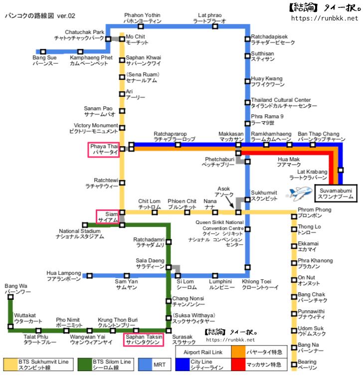 チャトリウム リバーサイドまでの路線図