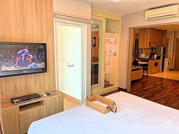 V レジデンス ホテル アンド サービスド アパートメント(V Residence Hotel and Serviced Apartment)のベッドルーム2