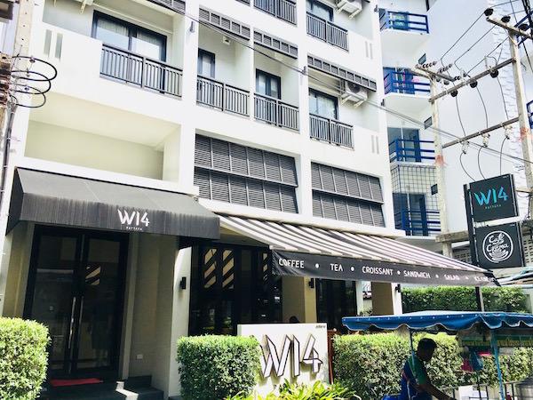 W14ホテルの外観