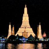 バンコクで最も個性的な夜景!ライトアップされたワットアルンが見えるホテルを紹介【MRTサナームチャイ近く】