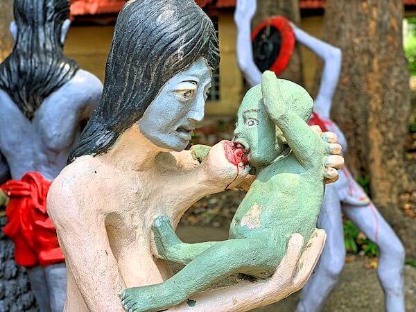 アユタヤの地獄寺ワットガイの地獄像5