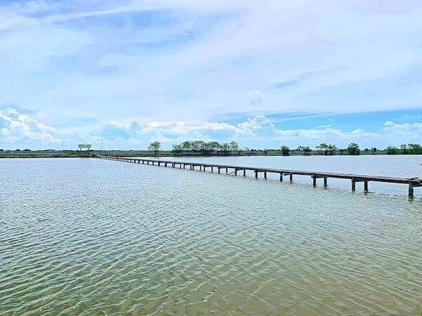 ワット・クン・サムット・チン(Wat Khun Samut Chin)周辺の畦道に架かる橋