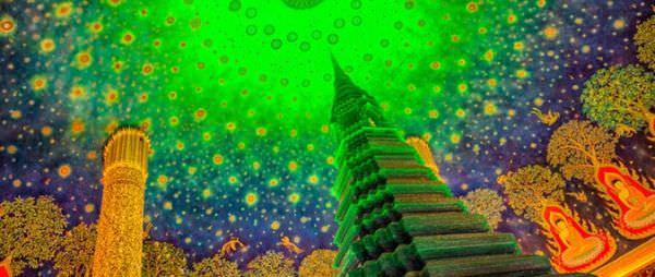 ワットパクナムのインスタ映え仏塔