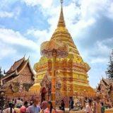 ドイステープ寺院の頂上にある黄金の仏塔