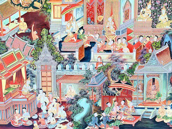 ドラえもん寺の壁画