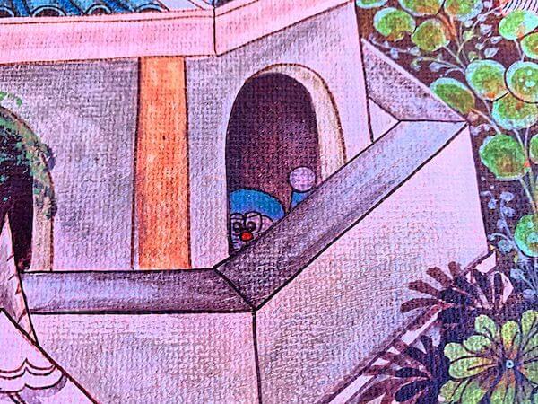 ドラえもん寺の壁画に隠れているドラえもん4