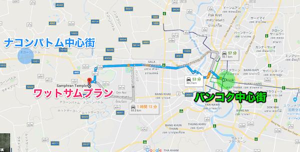 ワットサムプランの地図