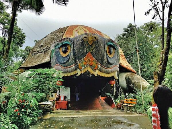 ワットサムプランの敷地内にある亀の洞窟