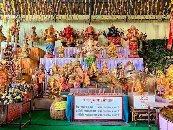 ワット ターカーローン(Wat Tha Ka Rong)に安置されているガネーシャ像
