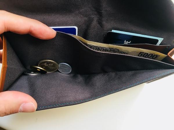 アブラサス旅行財布のコインポケット